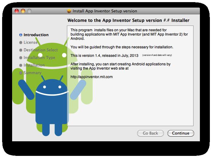 Installing App Inventor 2 Setup on Mac OS X | Explore MIT